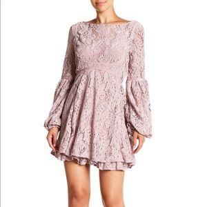 Free People Rubi lace long sleeve dress